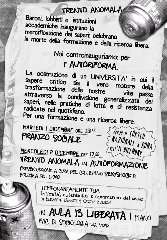 Trento in Onda verso verso lo sciopero dell'11 dicembre. Tutt@ a Roma